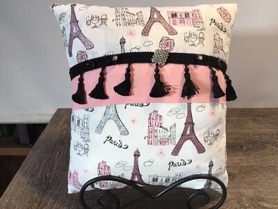 Home Decor Throw Pillow Featuring Paris