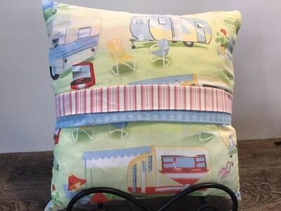 Home Decor Trailer Themed Throw Pillow