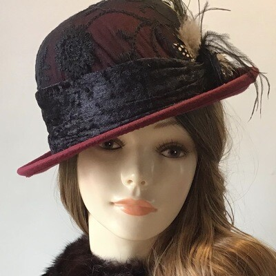 Burgundy Small Roller Hat