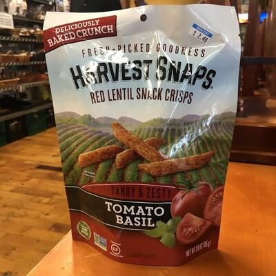 Harvest Snaps Red Lentil Snack Crisps Tomato Basil Flavor