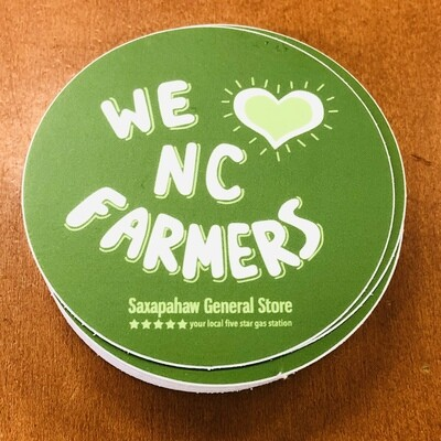 We Heart NC Farmers Sticker
