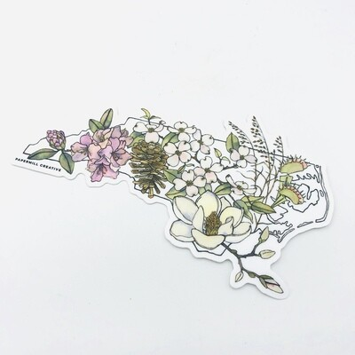 Flowers of NC sticker by Papermill Creative