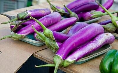 Long Japanese Eggplant from Eat Dirt Farm (1 lb)