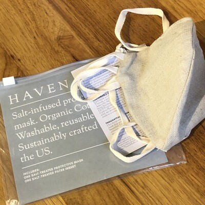 Haven Salt-Infused Organic Cotton Mask