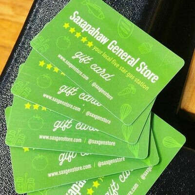 Sax General Store Gift Certificates