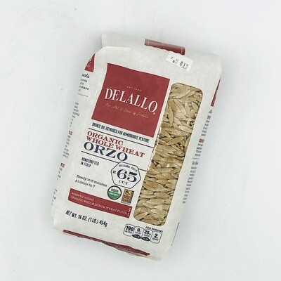 DeLallo Organic Whole Wheat Orzo