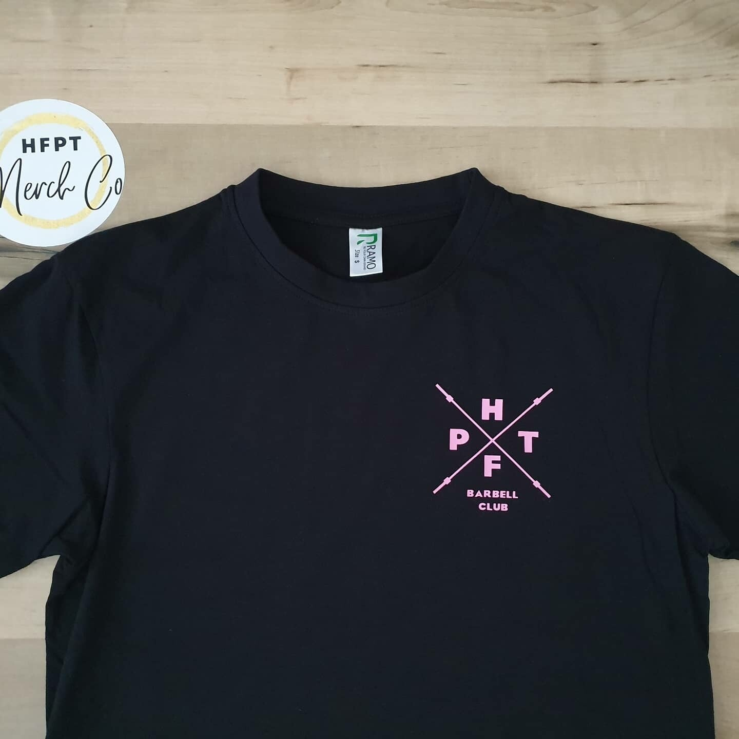Pink HFPT Barbell Pocket Tee