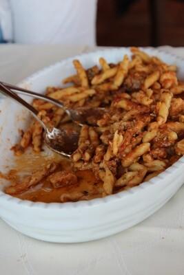 Strozzapreti pasta w/ slow cooked lamb ragu