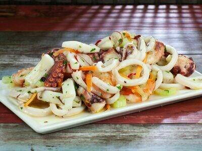 Italian seafood marinara salad