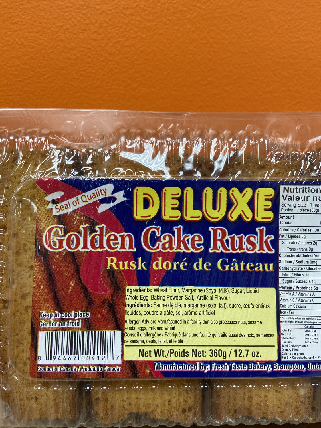 CAKE RUSK DELUXE 360GMS