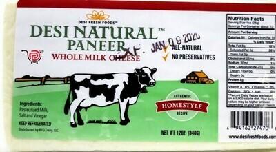 Desi Natural Paneer Whole Milk 12oz