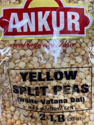 Ankur Yellow Split Peas 2lb