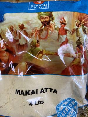 SHUDH MAKAI ATTA FLOUR 4LB
