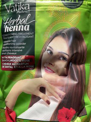 Vatika naturals Herbal Henna Sandalwood&Rose 200g