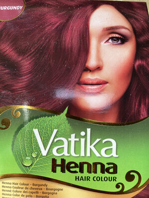 Vatika Henna Hair Color Burgundy 60g