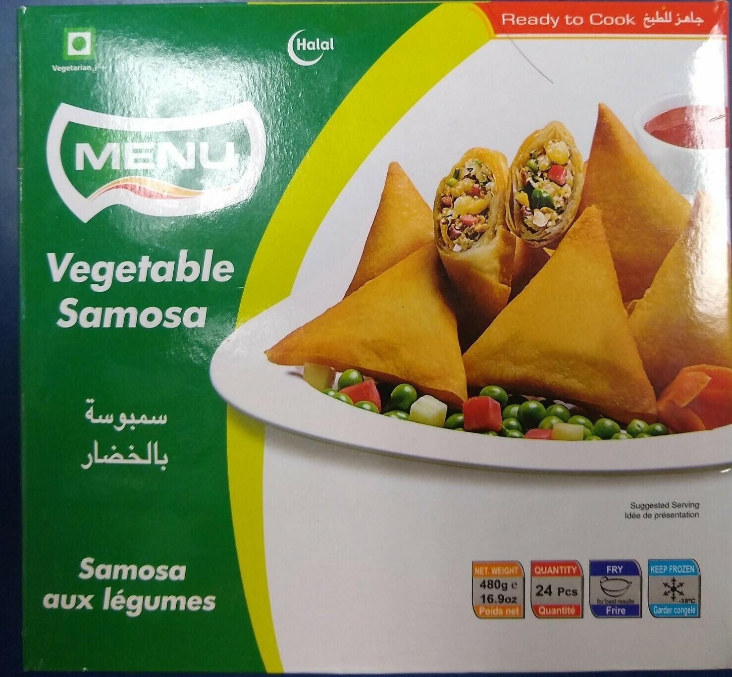 Menu Vegetable Samosa 480g / 24pc