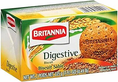 BRITANNIA DIGESTIVE BISCUITS 225g