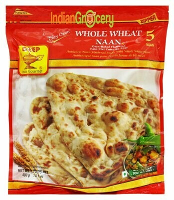 Deep Whole Wheat Naan 5pc