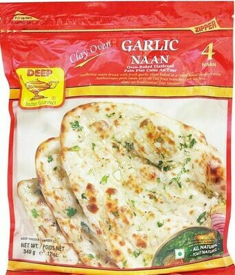 Deep Garlic Naan 4pc