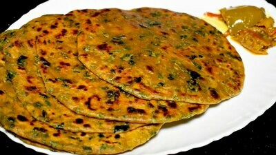 Fresh Methi Paratha -4pc