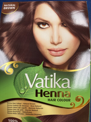 VATIKA Henna Hair Color Natural Brown 60g