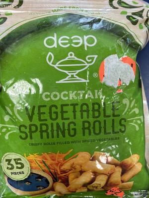 Deep Cocktail Veg Spring Rolls 35p