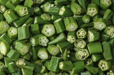 Fresh Okra Cut bag