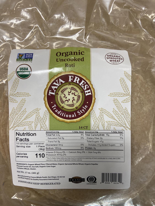 Desi Organic Uncooked Roti 14pc