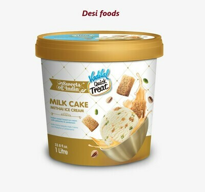 Vadilal Milk Cake Mithai ice Cream 1Ltr