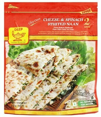 Deep Cheese & Spinach Stuffed Naan 2pc