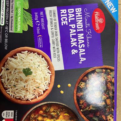 Haldirams Bhendi Masala Dal Palak Rice Frz