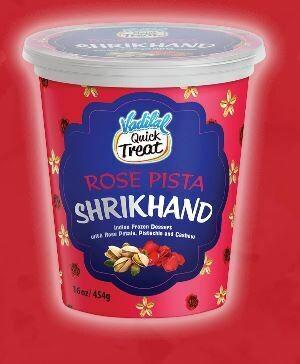 Vadilal Rose Pista Shrikhand 454g
