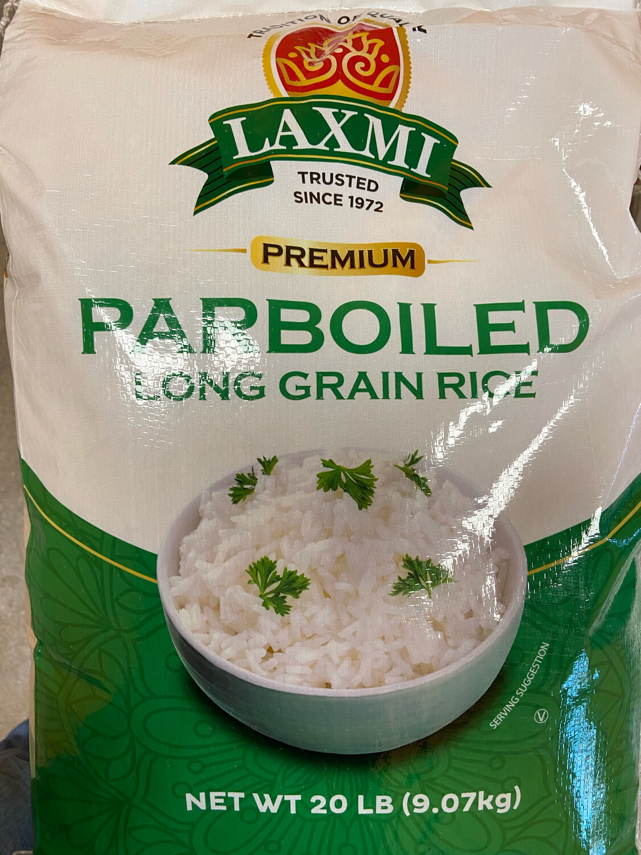 Laxmi Parboiled  Long Grain Rice 20lb