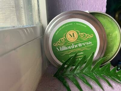 Millionheiress 100% Soy Wax Candle hand poured in the Bahamas