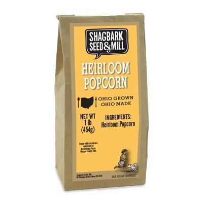 *HEIRLOOM POPCORN, SHAGBARK SEED AND MILL, (2 lbs) -OHIO-