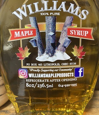 *WILLIAMS BOURBON MAPLE SYRUP-8oz.*LOCAL*
