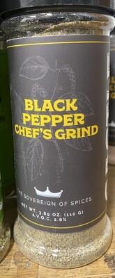 BLACK PEPPER CHEFS GRIND 3.89oz