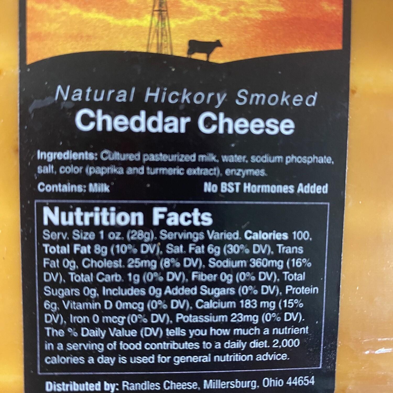 CHEESE, HICKORY SMOKED CHEDDAR. 2lbs.