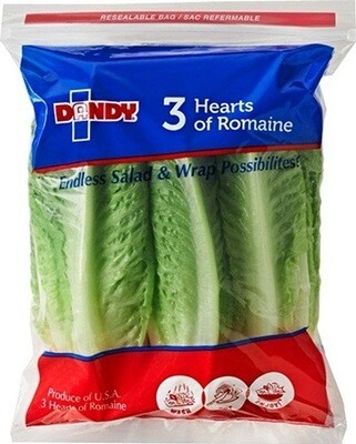 LETTUCE, HEARTS OF ROMAINE ( 3 pack)