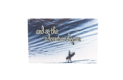 """Wood Print """"and so the adventure begins"""""""