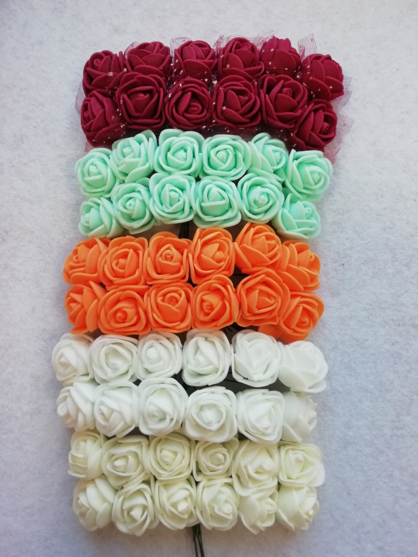"""Цветы для декора """"Роза из фоамирана"""" 20мм"""