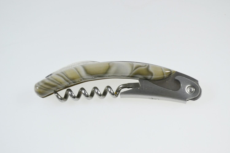 Nożyk krzemienny w skórzanym etui