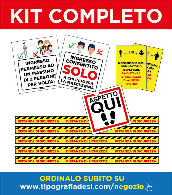 Kit Completo - Dispositivi Sicurezza Anti Covid-19