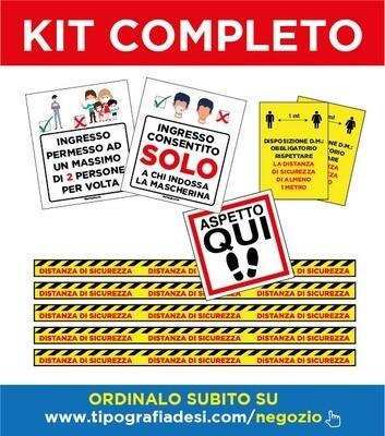 Kit Completo - Dispositivi Sicurezza Anti Covid-19