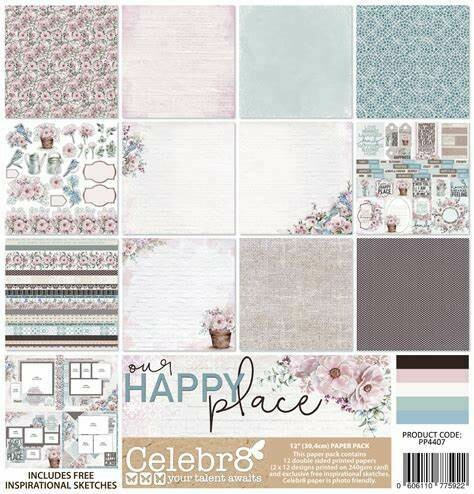Celebr8 - Our Happy Place 12 x12 Collection