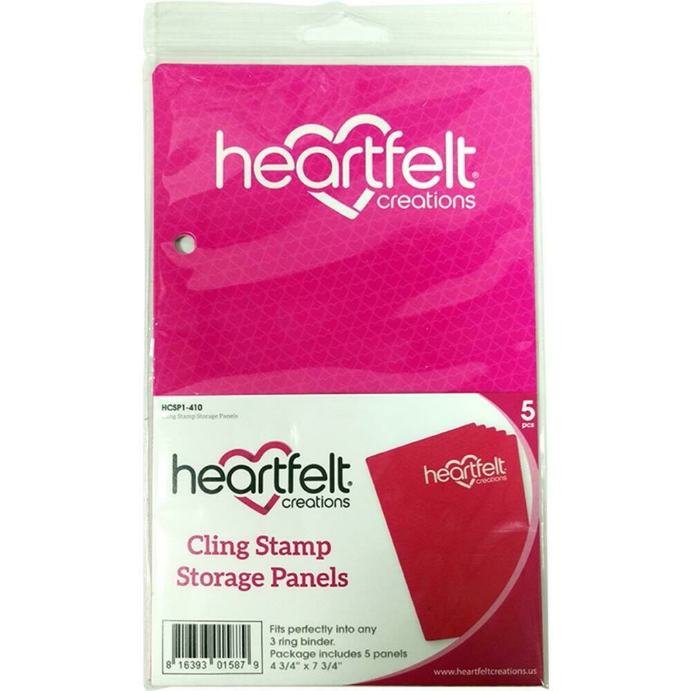Heartfelt Creations - Cling Stamp Storage Panels - 5 Pk
