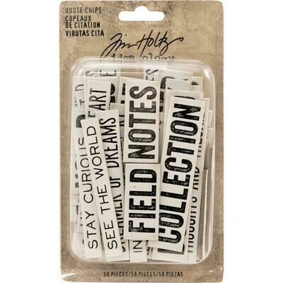 Tim Holtz - Ideology Quote Chips
