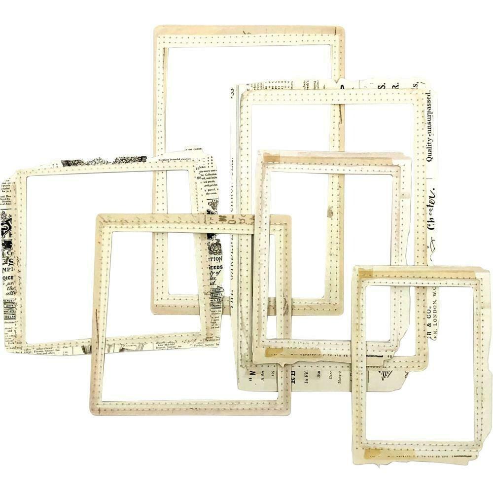 49 & Market - Vintage Artistry Natural Stitched Frames - 6 pcs
