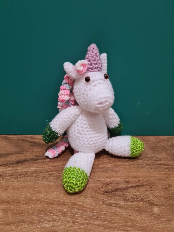 Unicorn Green with Pink Braids