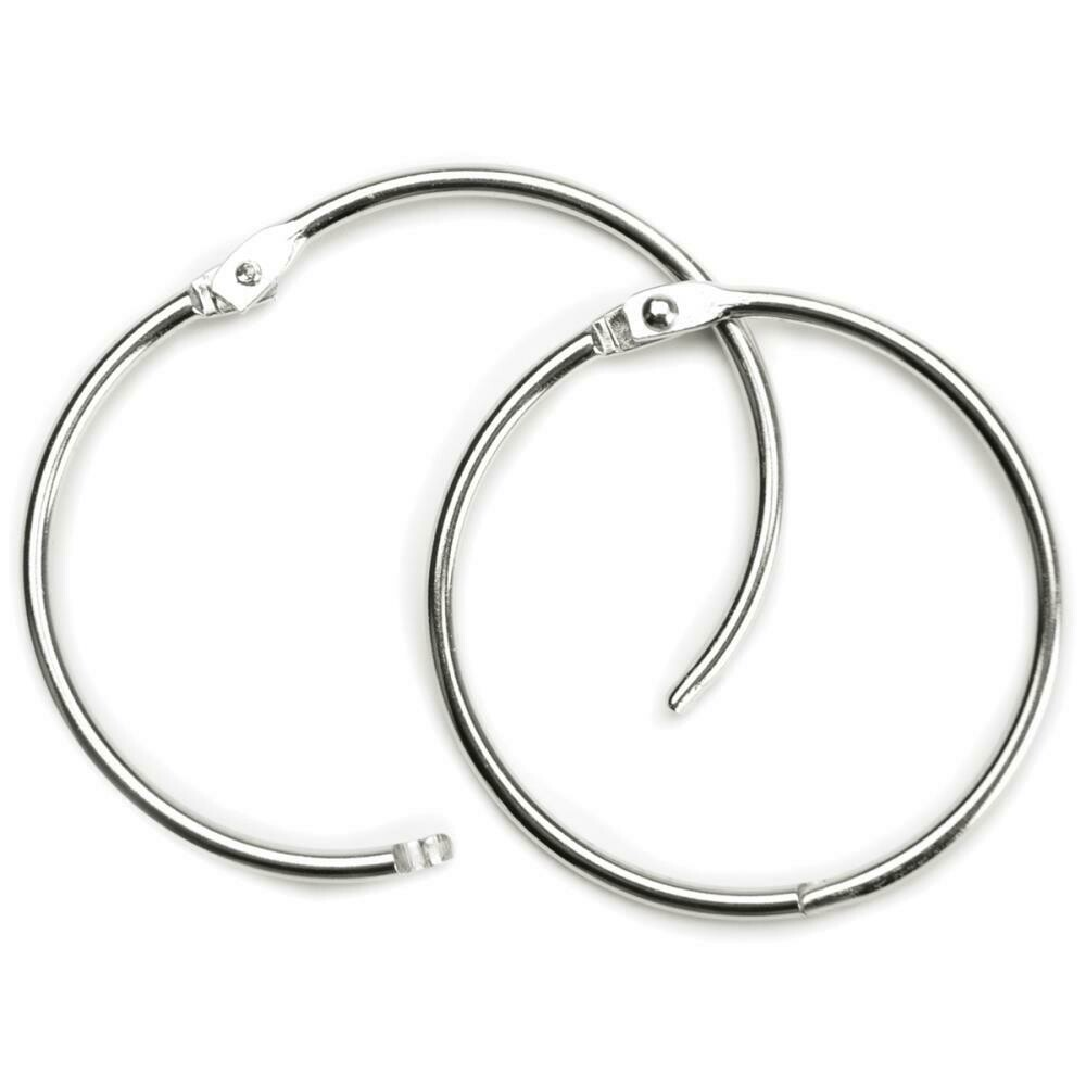 """Book Hinged Rings - 40 mm (1&1/2"""")Four Pack"""